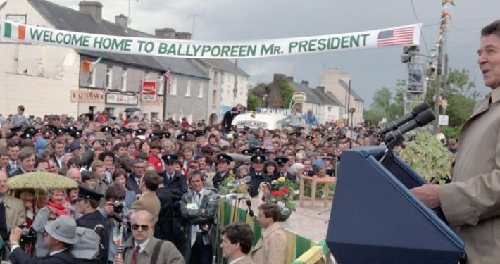 6/3/1984 President Reagan speaking to citizens of Ballyporeen Ireland