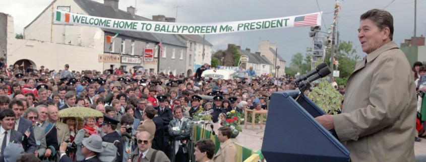 6/3/1984 President Reagan speaking to citizens of Ballyporeen Ireland